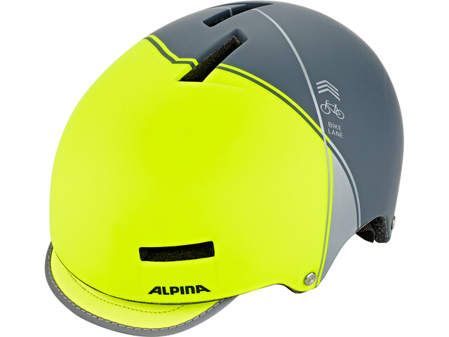 Alpina Grunerlokka Casco, be visble-charcoal